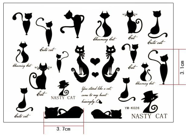 Minimum-order-5-mix-order-Disposable-Tattoo-Tattoo-English-word-and-cat.jpg
