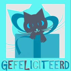 Verjaardagskaart cadeau kat