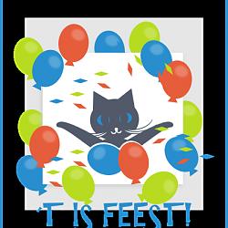 Verjaardagskaart feest