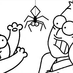 BRAND NEW B&W | Spider Cat - Simon's Cat (Halloween Special)