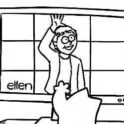 Ellen's 8th Annual Cat Week Dedication 'Screen Grab' - Simon's Cat | BLACK & WHITE