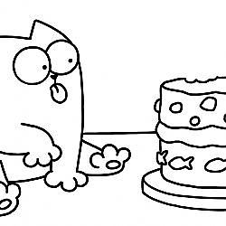 Purrthday Cake (A 10th Birthday Special) - Simon's Cat | BLACK & WHITE